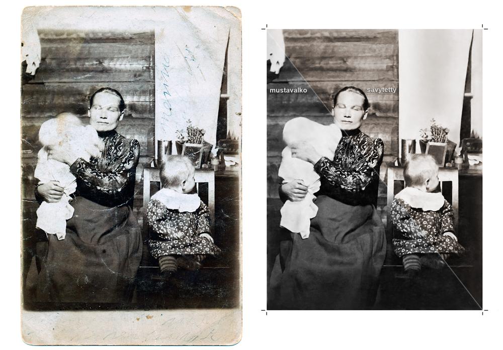 Vanhan valokuvan korjaus